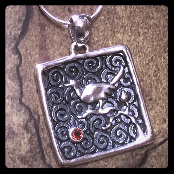 Casey Keith Design Jewelry - The Black Gold Bird Pendant